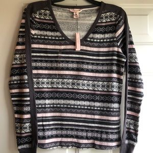 NWT Victoria's Secret XS patterned pajama top